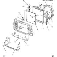 06 07 08 09 Hummer H3 Radiator Air Deflector/Baffle