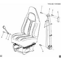 03-09 Topkick/Kodiak C4500-C8500 Front LH Seat Belt New Black 25780342 28076634