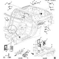 2014-2015 Chevrolet Corvette C7 Coupe Key FOB New OEM EMPTY CASE ONLY w/remstart