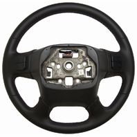 2015-2016 Silverado Sierra Steering Wheel Black Leather Red Stitching 23278615