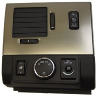 2008-09 Hummer H2 SUV Headlight Switch Bezel LH Vent New Black W/Bronze 25861040