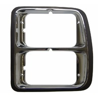 1979-80 Dodge Ram Truck Left LH Dual Headlight Trim Bezel Chrome 4087289 DG07022
