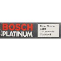 Bosch Platinum Spark Plugs #4201 Pack of 4 NOS