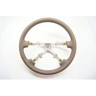 1992-1996 Toyota Camry Steering Wheel, Dark Tan Leather w/o Controls