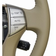2005-2007 Toyota Avalon Steering Wheel Ivory Tan Leather W/Wood New 4510007291A0