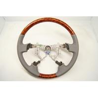 2005-2010 Toyota Avalon Steering Wheel Grey Leather W/Wood Grain No Controls New