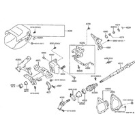 1995-1996 Toyota Avalon Steering Column Trim Screw Cover Dark Rose 4528907030E0
