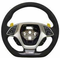 2014-18 Corvette C7 Z06 Steering Wheel Black Suede W/Yellow Stitch New 84198779