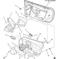1997-2004 Chevy Corvette C5 Door Panel Handle Plug Access Covers Pair New Black L & R