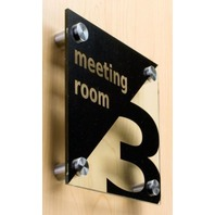 4pcs Stainless Steel Standoff Pins Screw Glass Picture Poster Frame Hanger 25x12