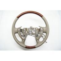 2000-2005 Cadillac DeVille Seville Steering Wheel Wheat Tan Leather W/Woodgrain