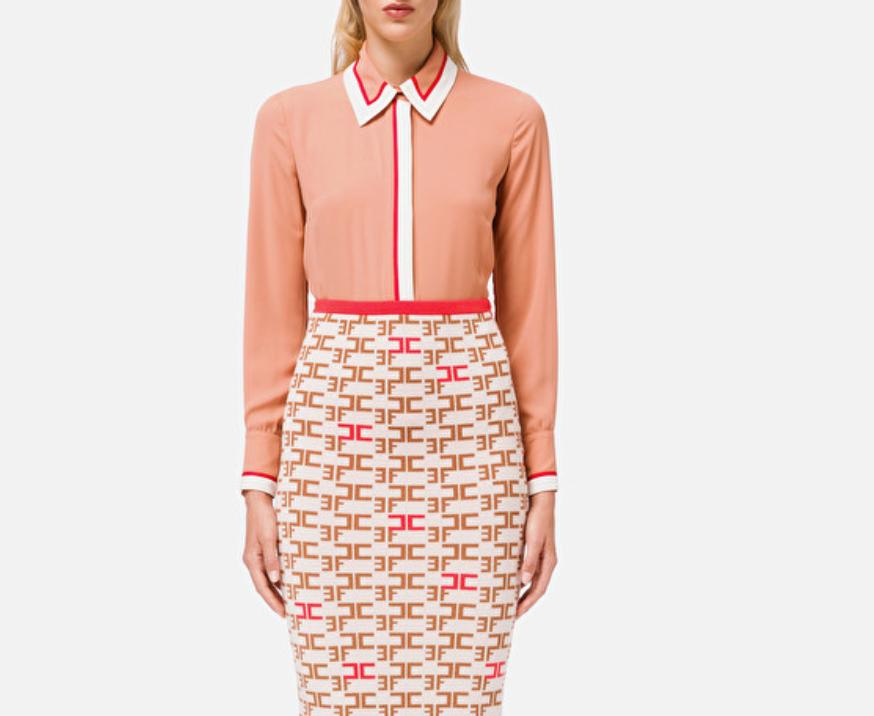 Camicia con bordi a contrasto Elisabetta Franchi ELISABETTA FRANCHI | Camicia | CA29206E2W77