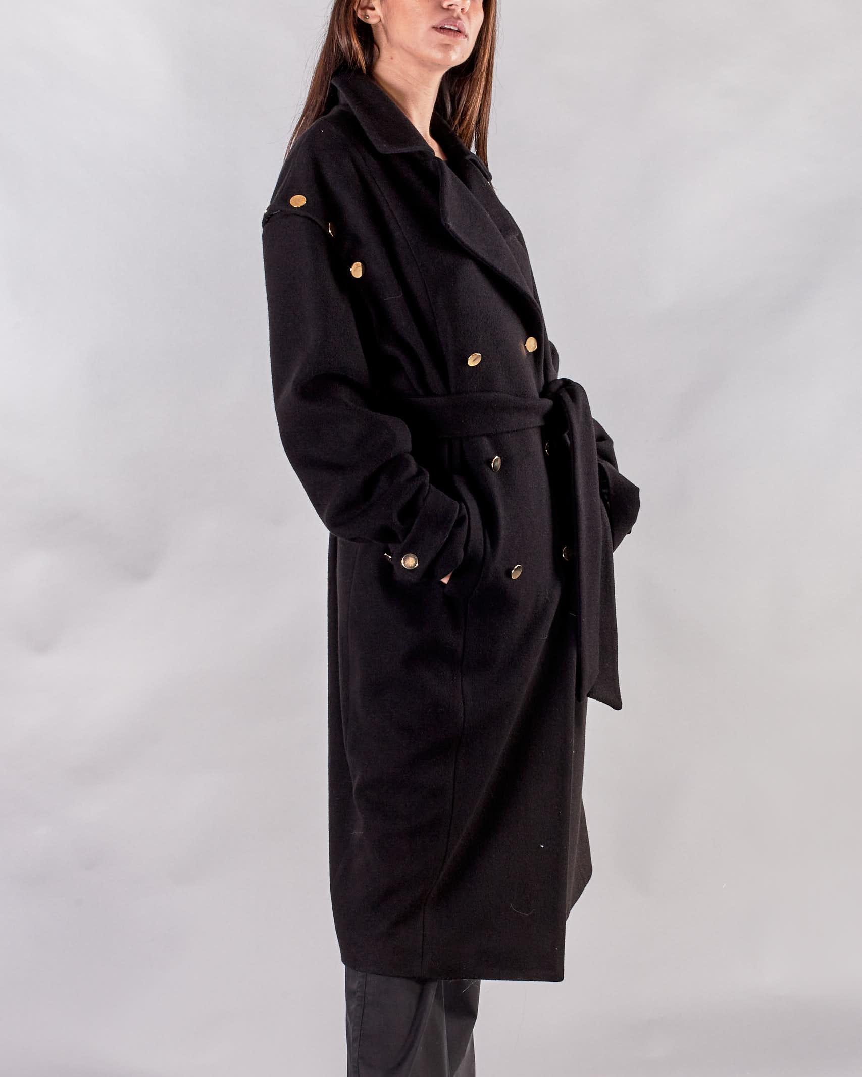 Cappotto bottoni oro light Simona Corsellini SIMONA CORSELLINI | Cappotto | CP00301TPAN00123