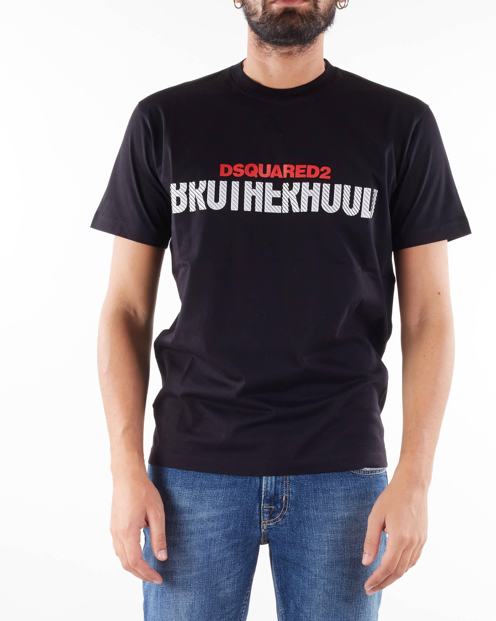 T-shirt con stampa a rilievo Dsquared DSQUARED   T-shirt   S74GD0856900