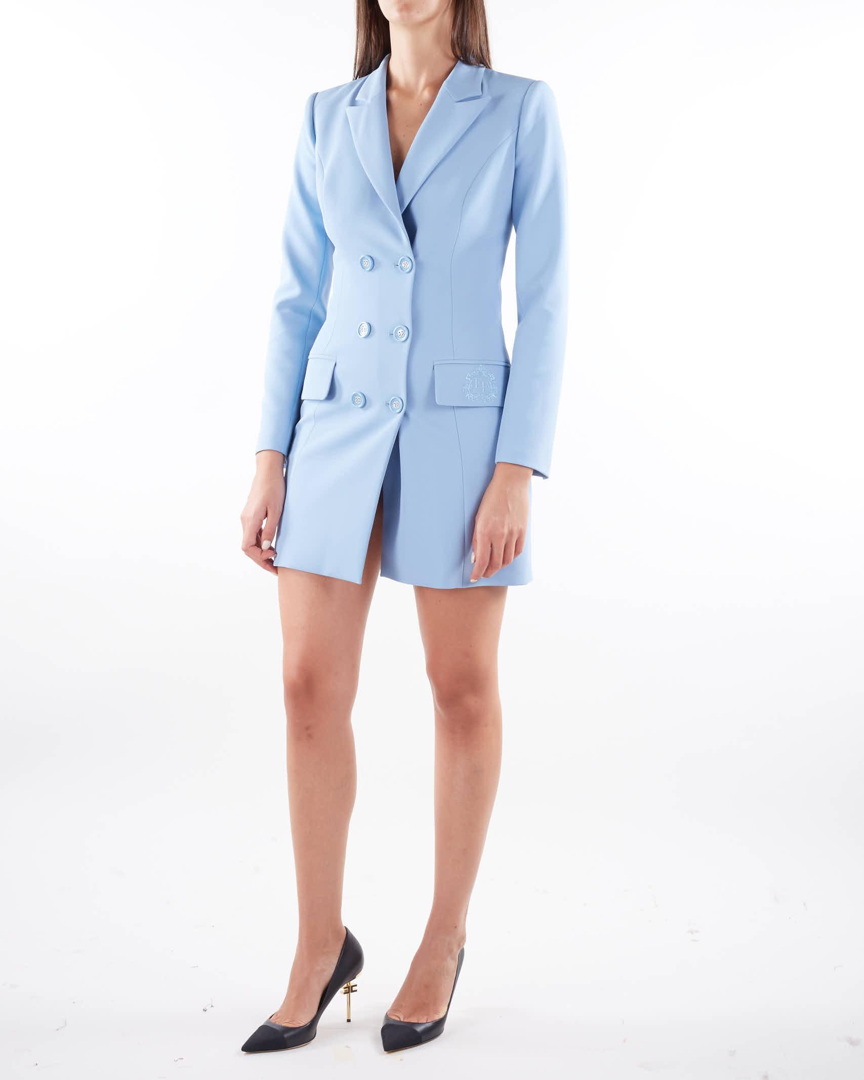 Robe manteau con stemma ricamato EF Elisabetta Franchi ELISABETTA FRANCHI   Abito   AB08916E2Q80