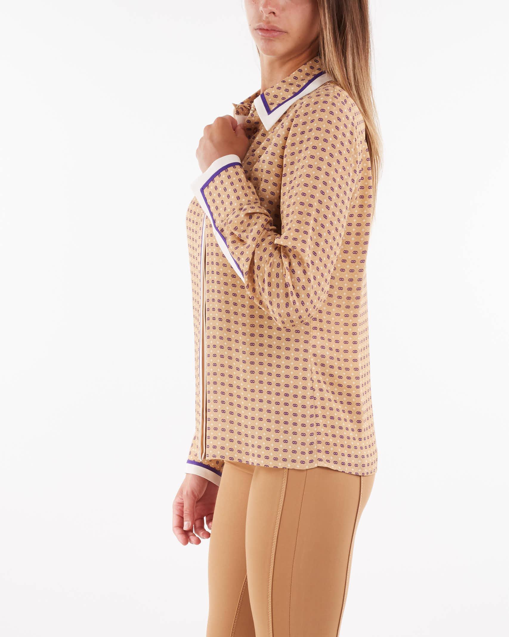 Camicia con stampa cravatta Elisabetta Franchi ELISABETTA FRANCHI | Camicia | CA34016E2AE2