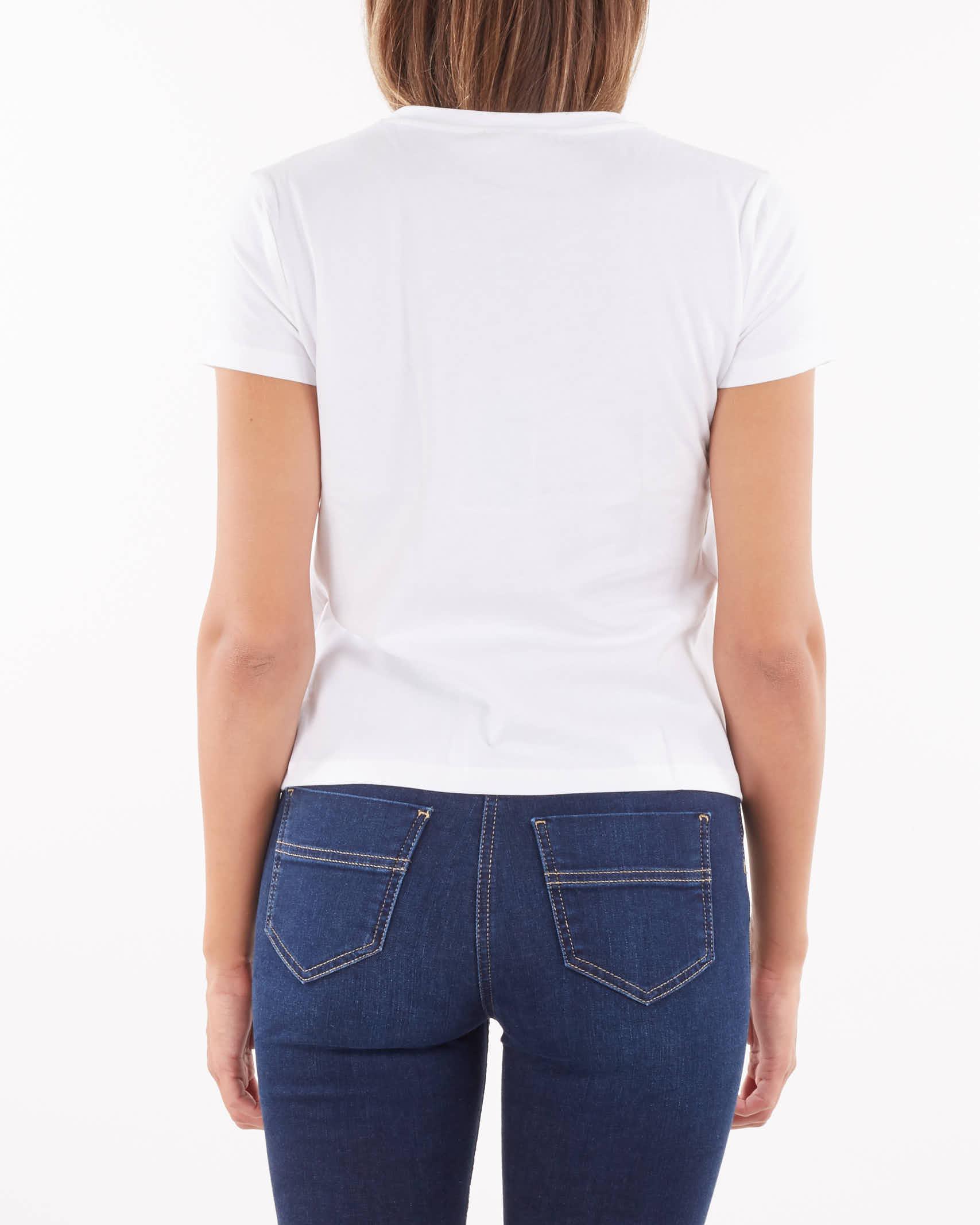 T-shirt con morso cavallo ricamato Elisabetta Franchi ELISABETTA FRANCHI | T-shirt | MA20116E2270