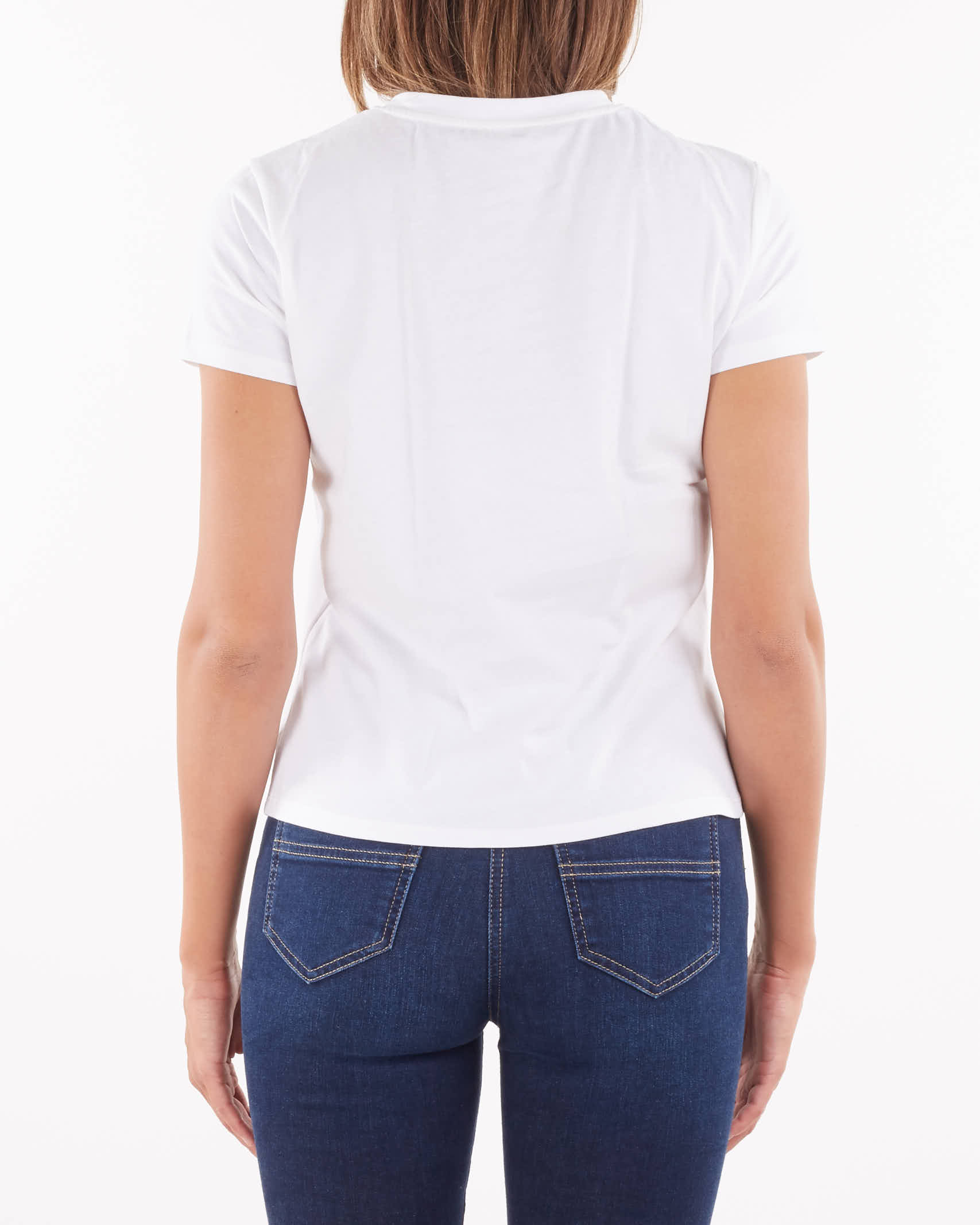 T-shirt girocollo con ricamo Elisabetta Franchi ELISABETTA FRANCHI | T-shirt | MA20816E2392