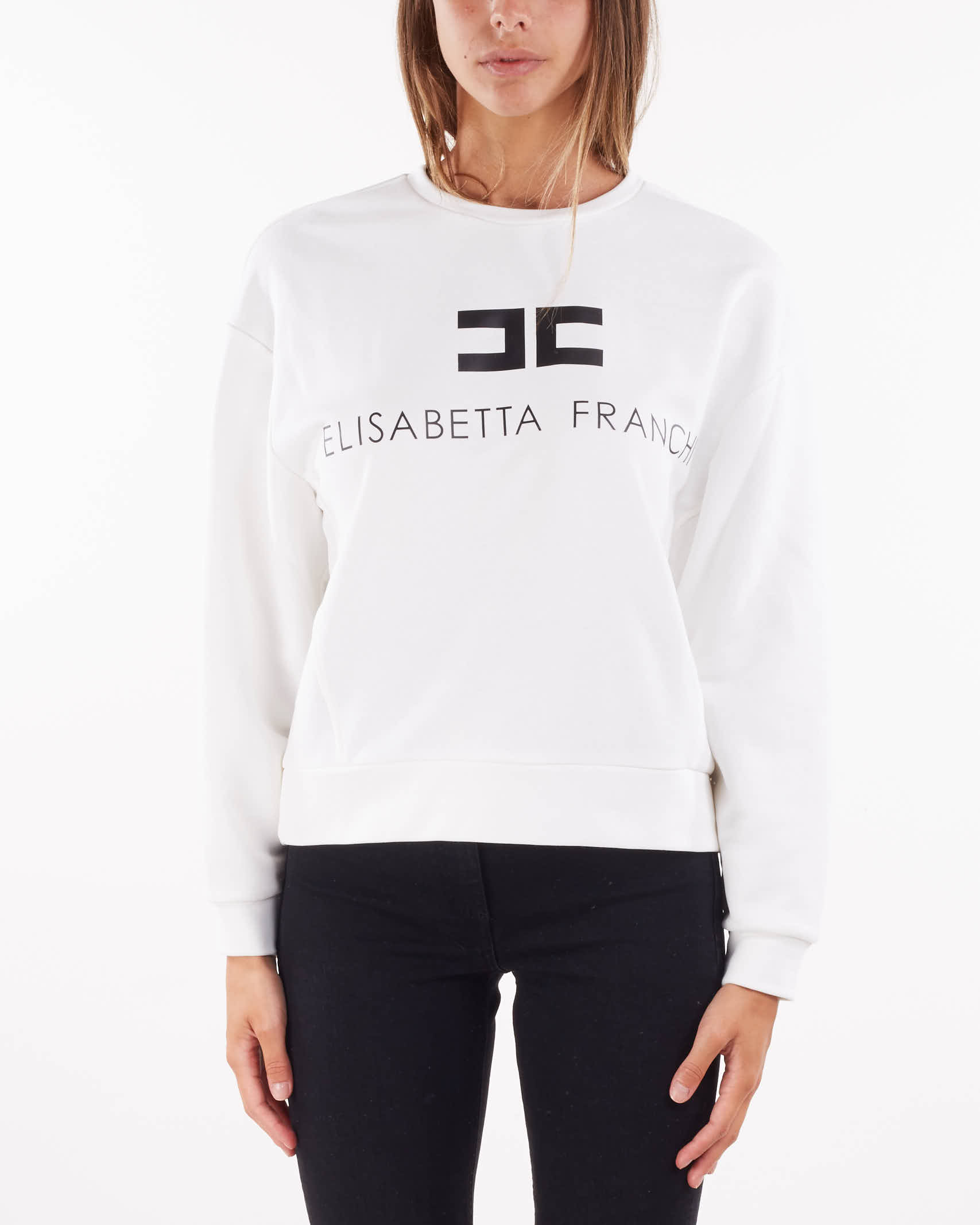 Felpa con logo Elisabetta Franchi ELISABETTA FRANCHI | Maglia | MD00116E2309