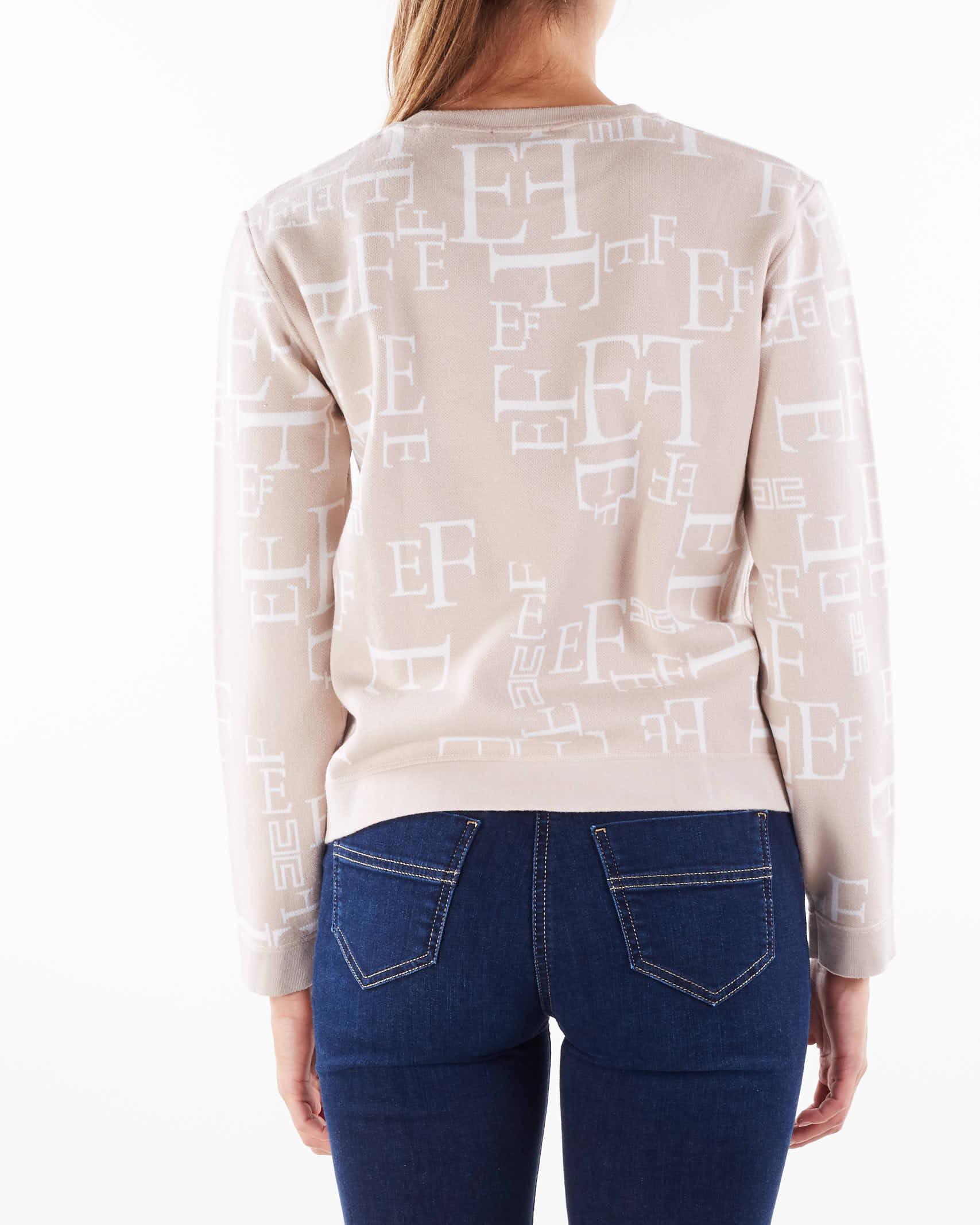 Felpa in maglia over size con stampa lettering Elisabetta Franchi ELISABETTA FRANCHI | Maglia | MK64Q16E2H28