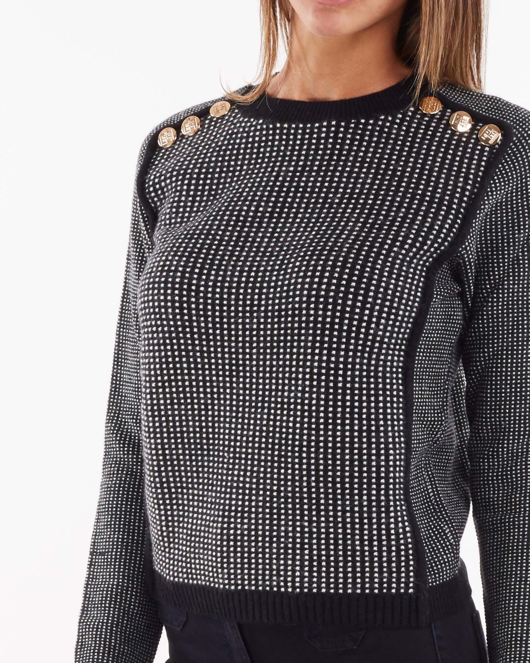 Maglia in misto lana a coste strette Elisabetta Franchi ELISABETTA FRANCHI | Maglia | MK66S16E2685