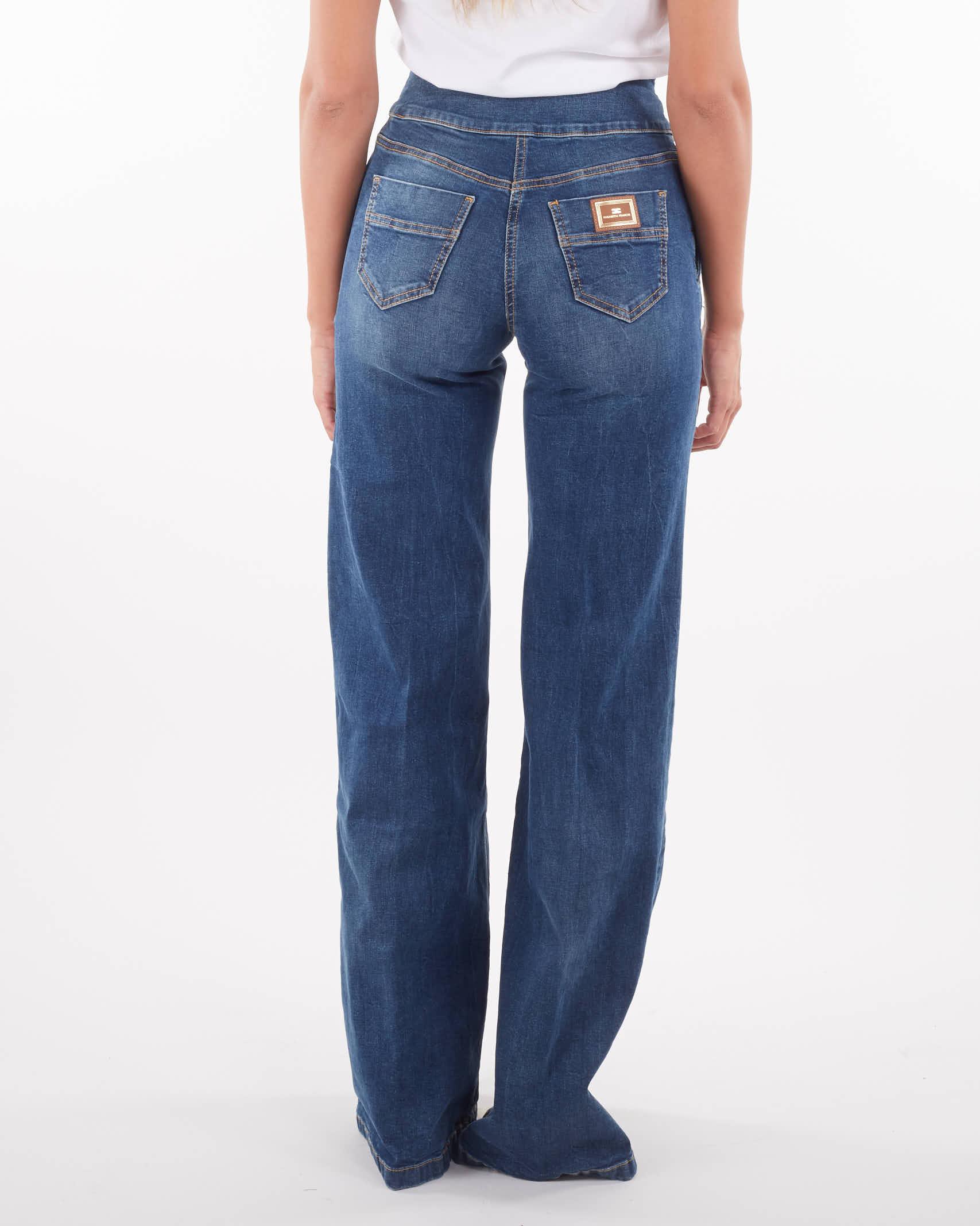Jeans a vita alta con bottoni dorati Elisabetta Franchi ELISABETTA FRANCHI   Jeans   PJ14D16E2139