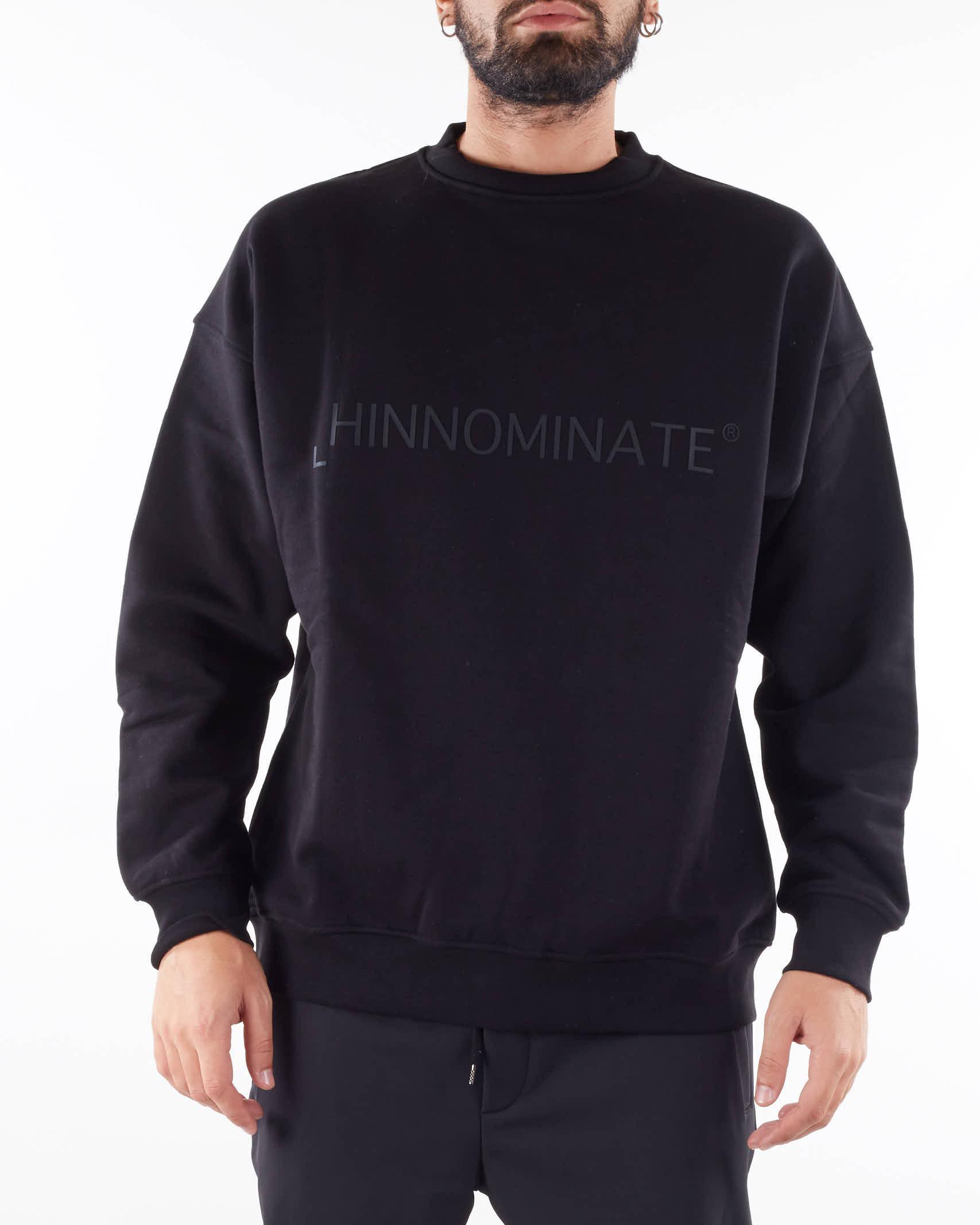 Felpa con logo Hinnominate HINNOMINATE   Felpa   ML16NERO