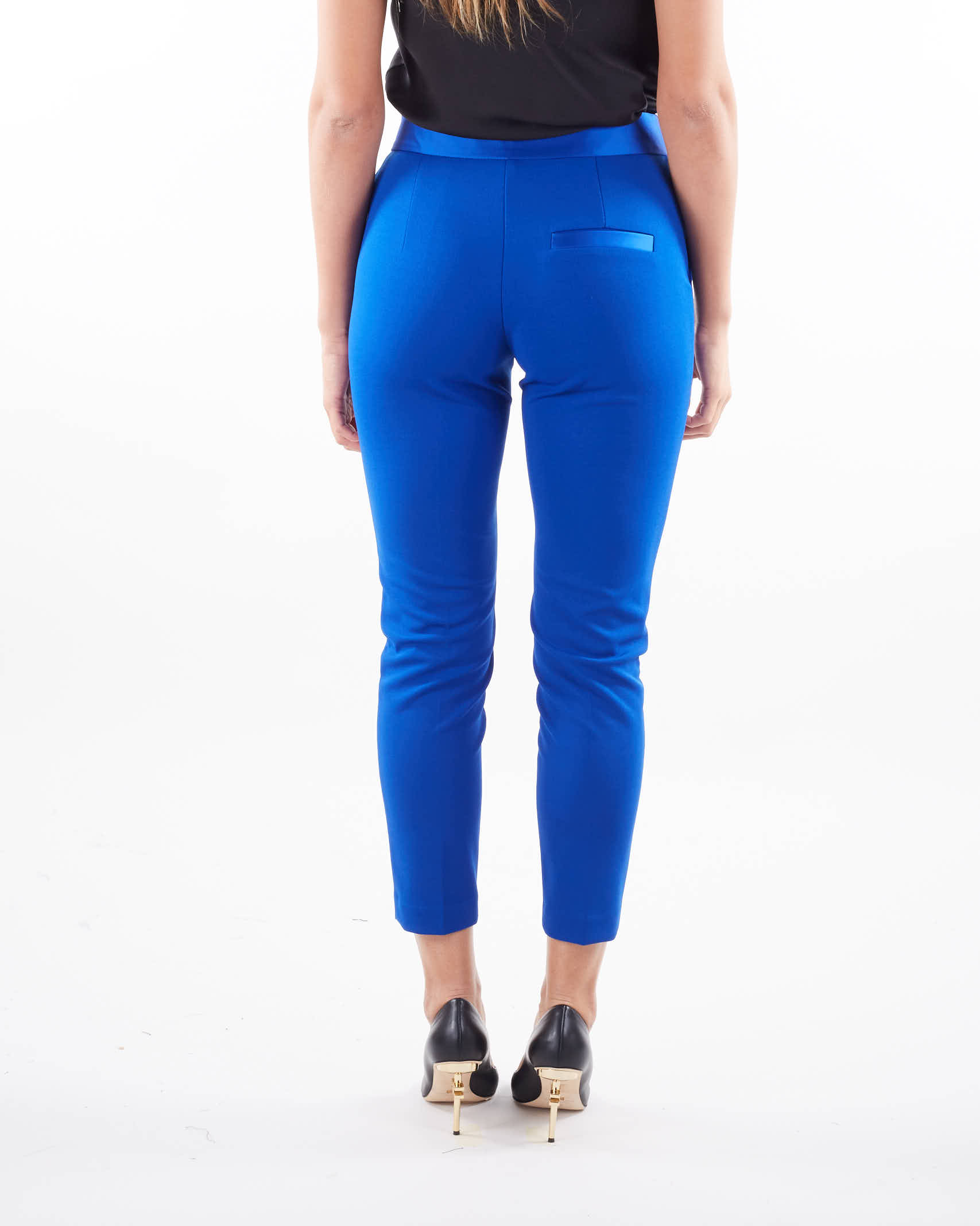 Pantalone skinny con bustino in raso Imperial IMPERIAL   Pantalone   PVN2CDHROYAL
