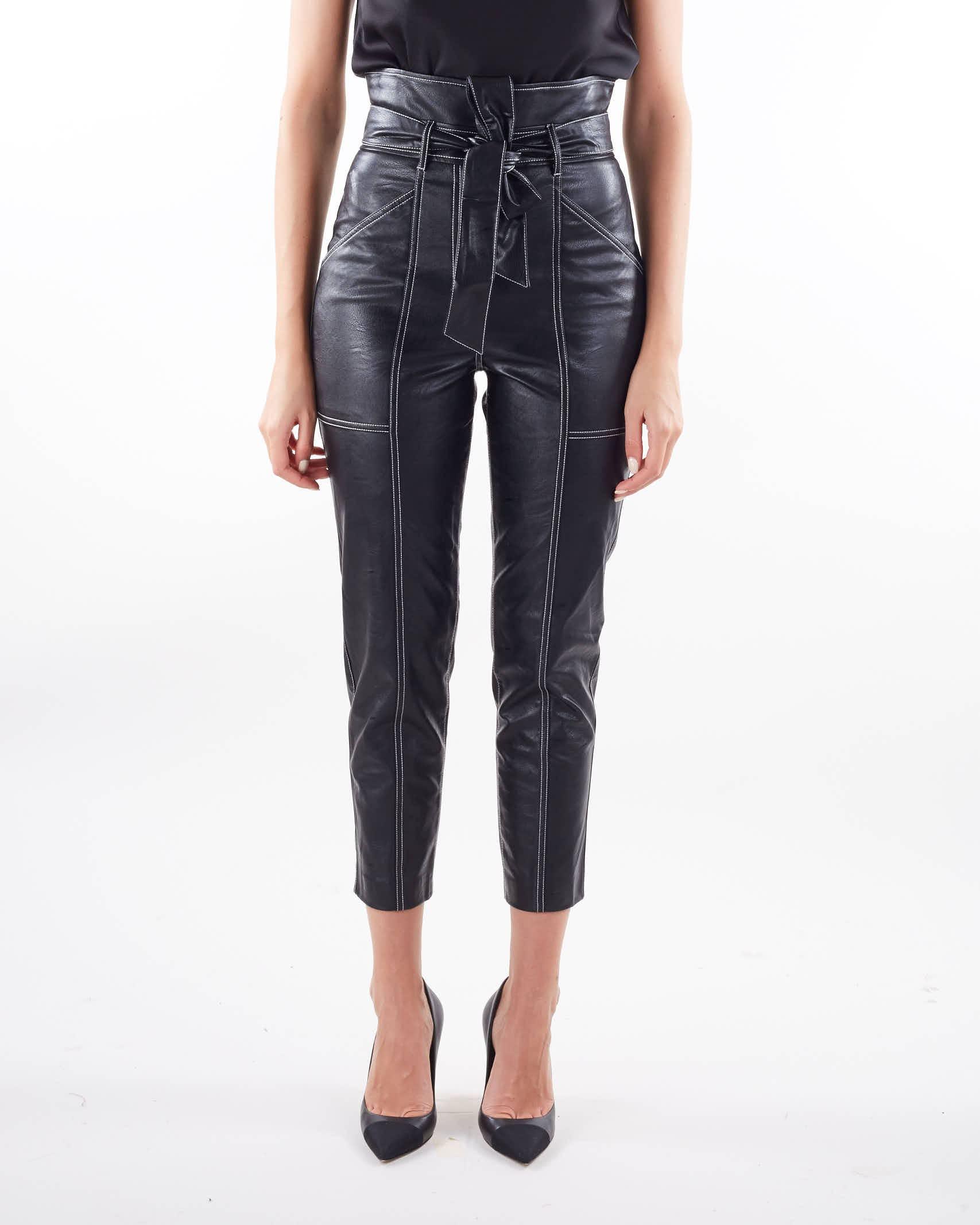 Pantaloni carrot in tessuto spalmato Twinset TWIN SET   Pantalone   TP20216