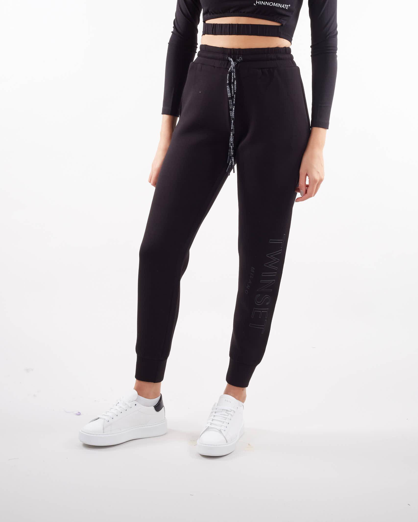 Joggers in tessuto scuba con logo Twinset TWIN SET   Pantalone   TT20916