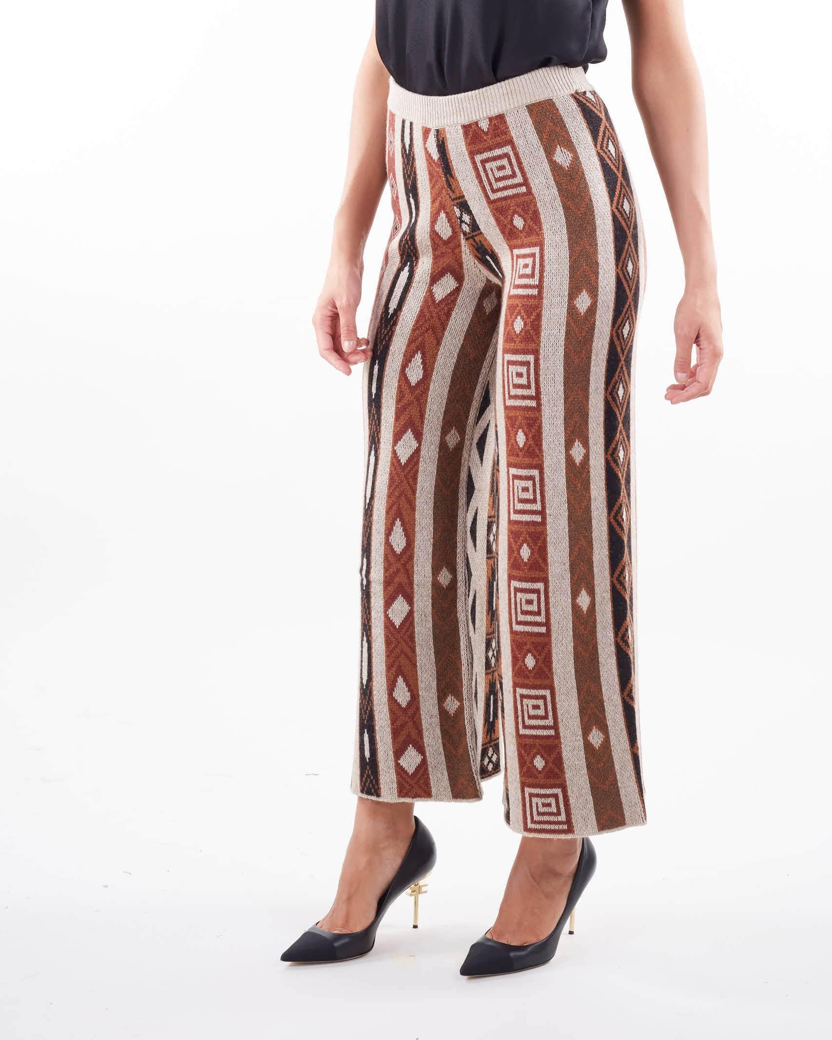 Pantalone jacquard in maglia Vicolo VICOLO   Pantalone   7071XMULTICOLOR