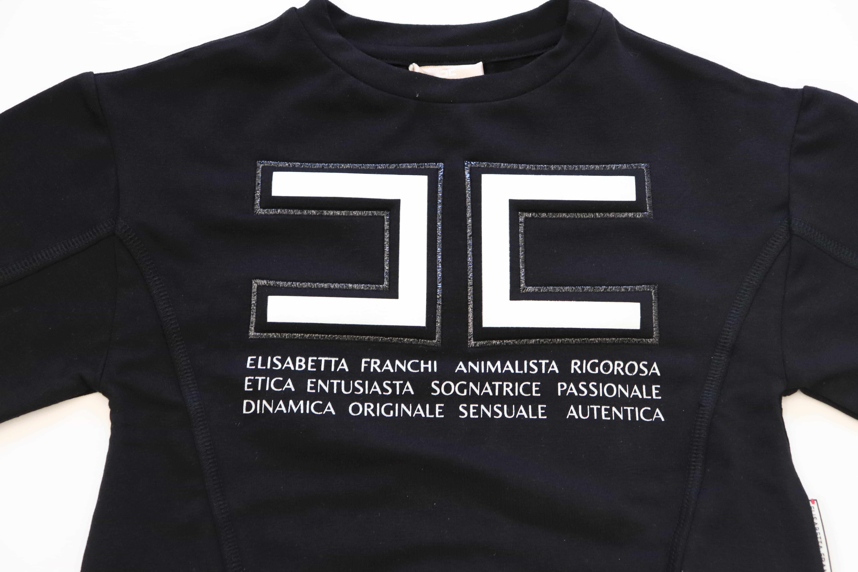 Felpa con logo Elisabetta Franchi La Mia Bambina ELISABETTA FRANCHI | Felpa | FE63FE1166