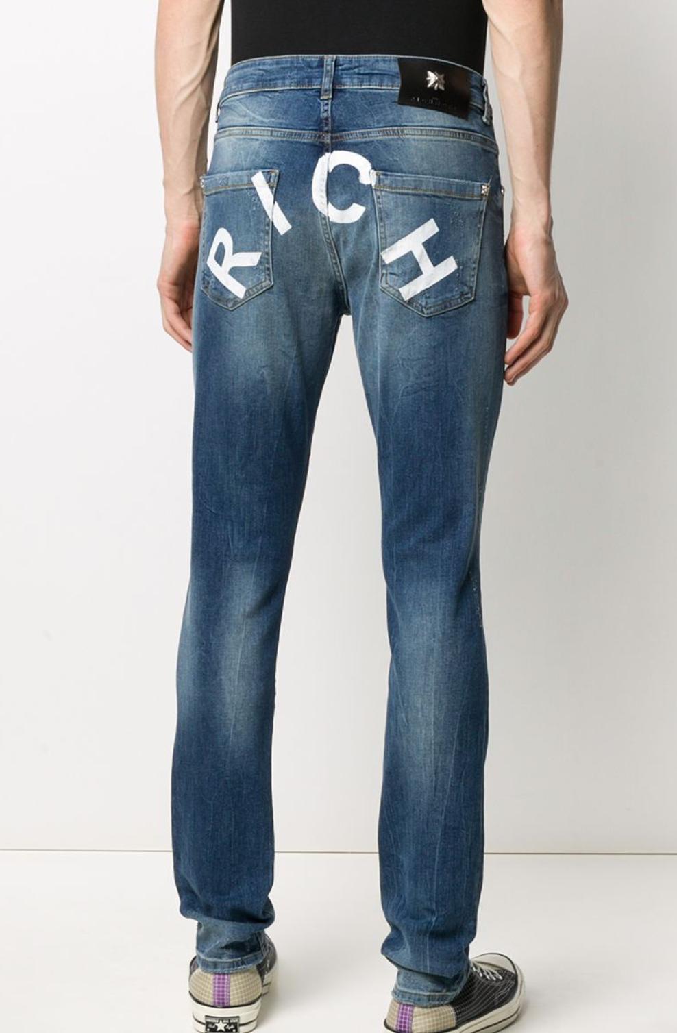 Jeans slim con scritta ''Rich'' sul retro John Richmond JOHN RICHMOND | Jeans | 20173JEDENIM