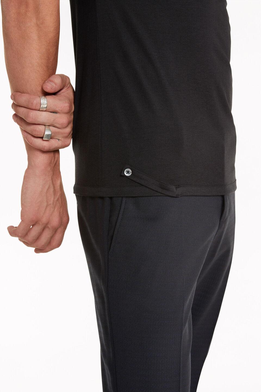 T-shirt Patrizia Pepe in Jersey di Cotone e Lyocell nera. PATRIZIA PEPE | T-shirt | 5M1223AT23K102