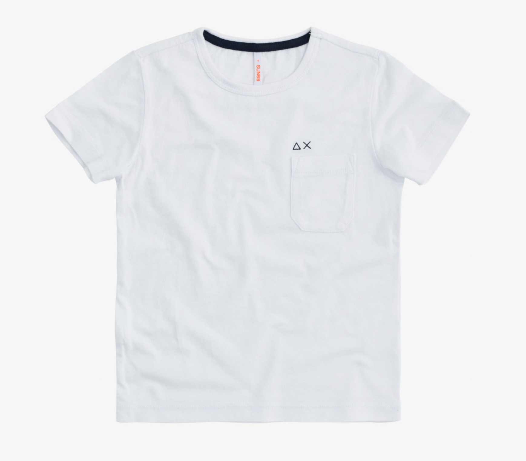 T- shirt Sun 68 bianca con taschino e logo a contrasto SUN68 | T-shirt | T3030101