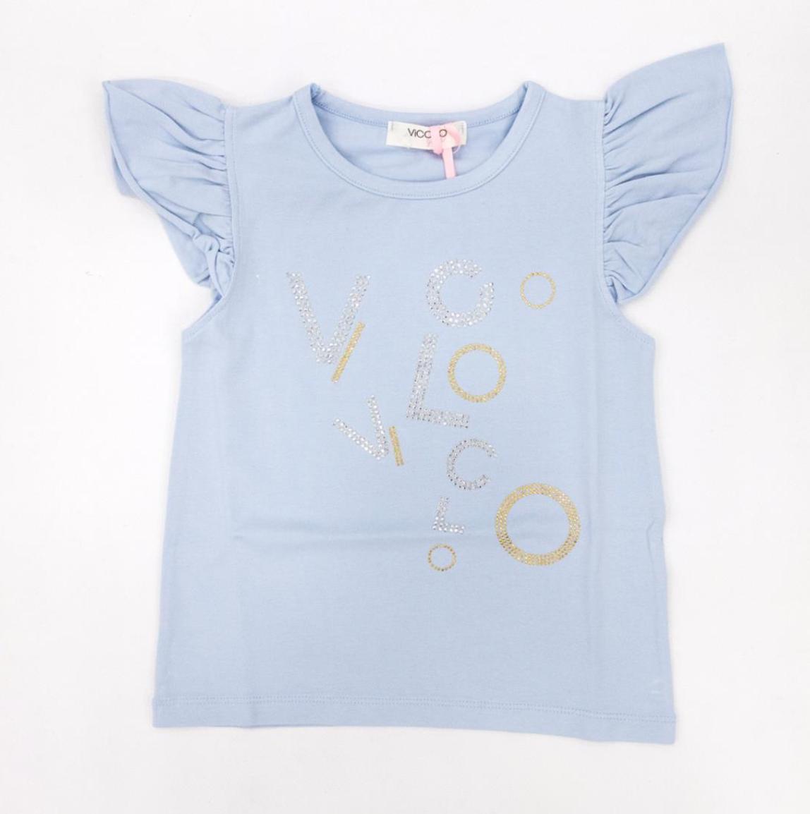 T-shirt celeste Vicolo con scritta VICOLO   T-shirt   M0196CELESTE