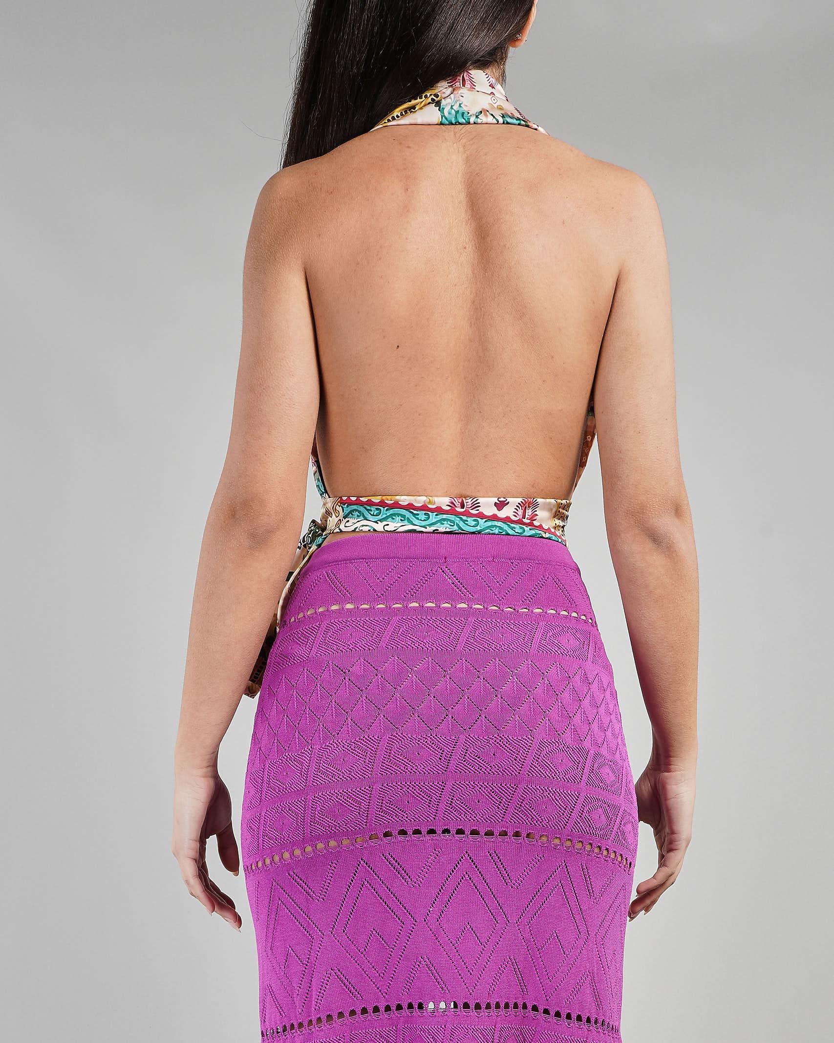 Top a fantasia modello foulard Akep AKEP | Top | KE1065MULTICOLOR