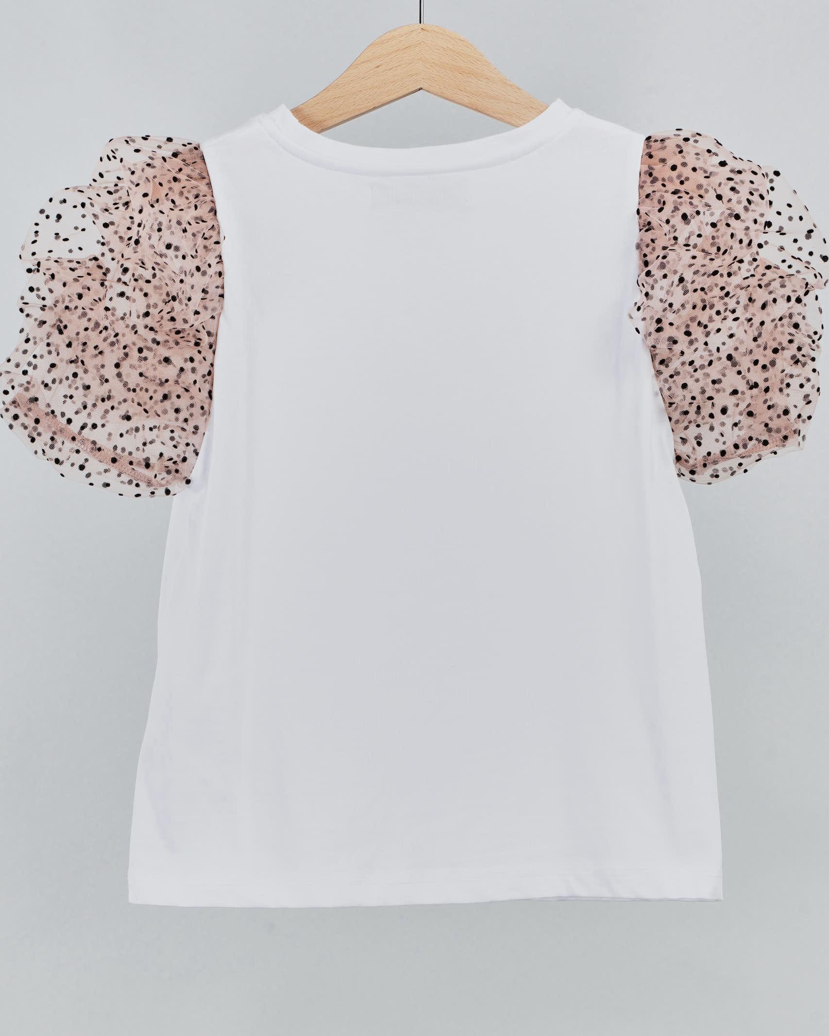 T-shirt con stampa logo e maniche in tulle Aniye By Girl ANIYE BY GIRL | T-shirt | 1150301370