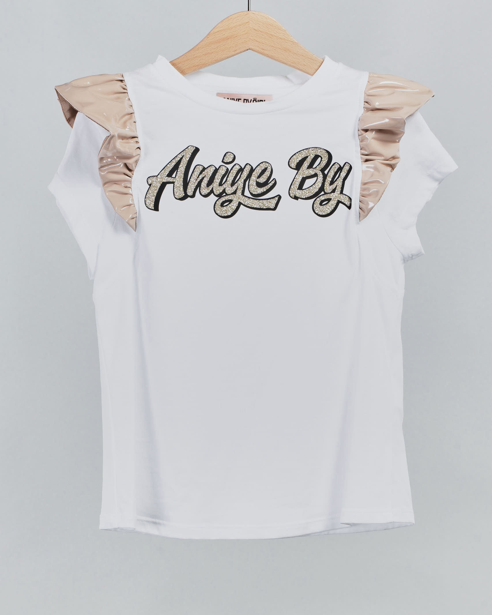 T-shirt con stampa logo e maniche con rouches Aniye By Girl ANIYE BY GIRL   T-shirt   115032800