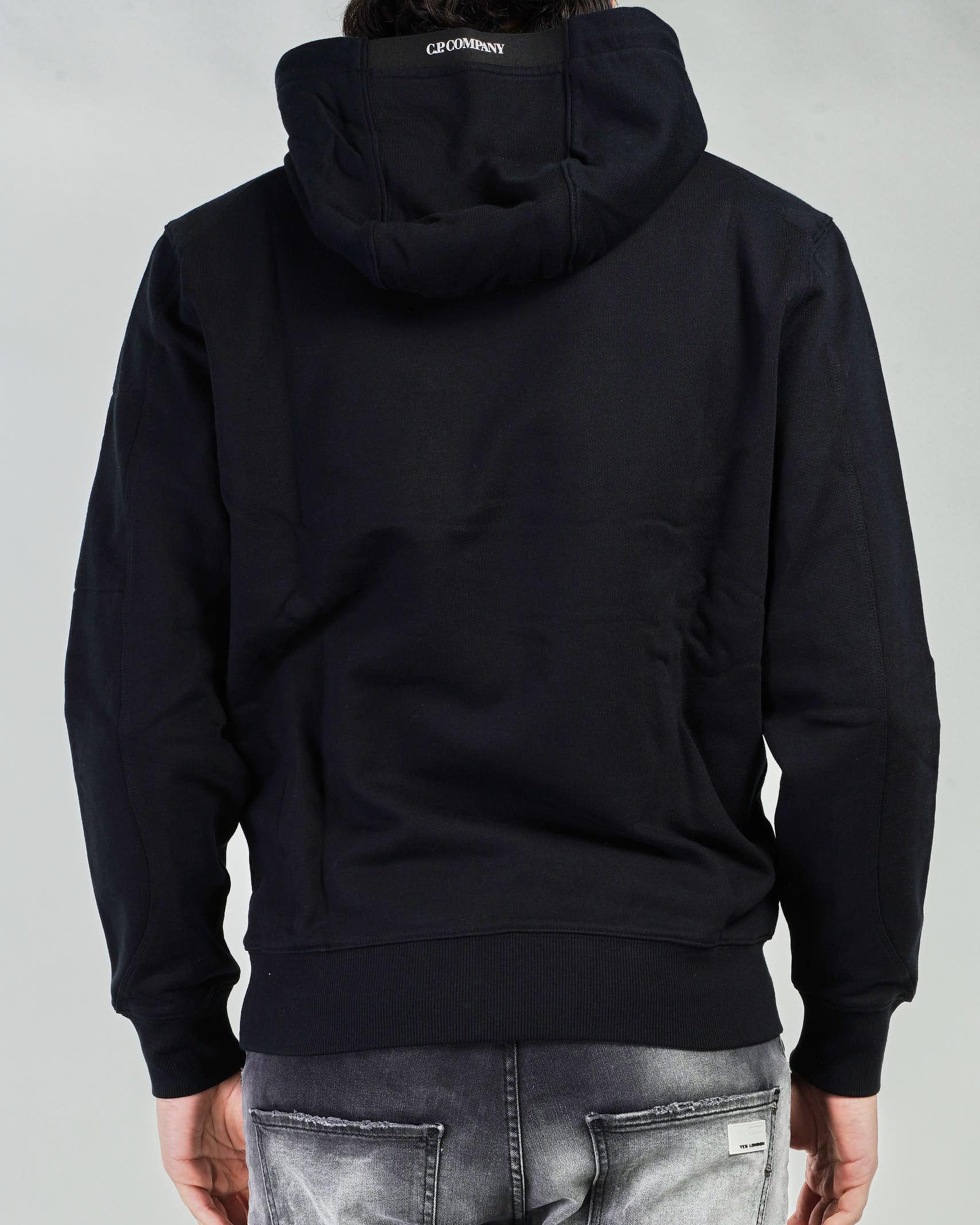 Felpa Diagonal Raised Fleece Garment Dyed Hoodie C.P. Company C.P. COMPANY | Felpa | 10CMSS047A005086W999