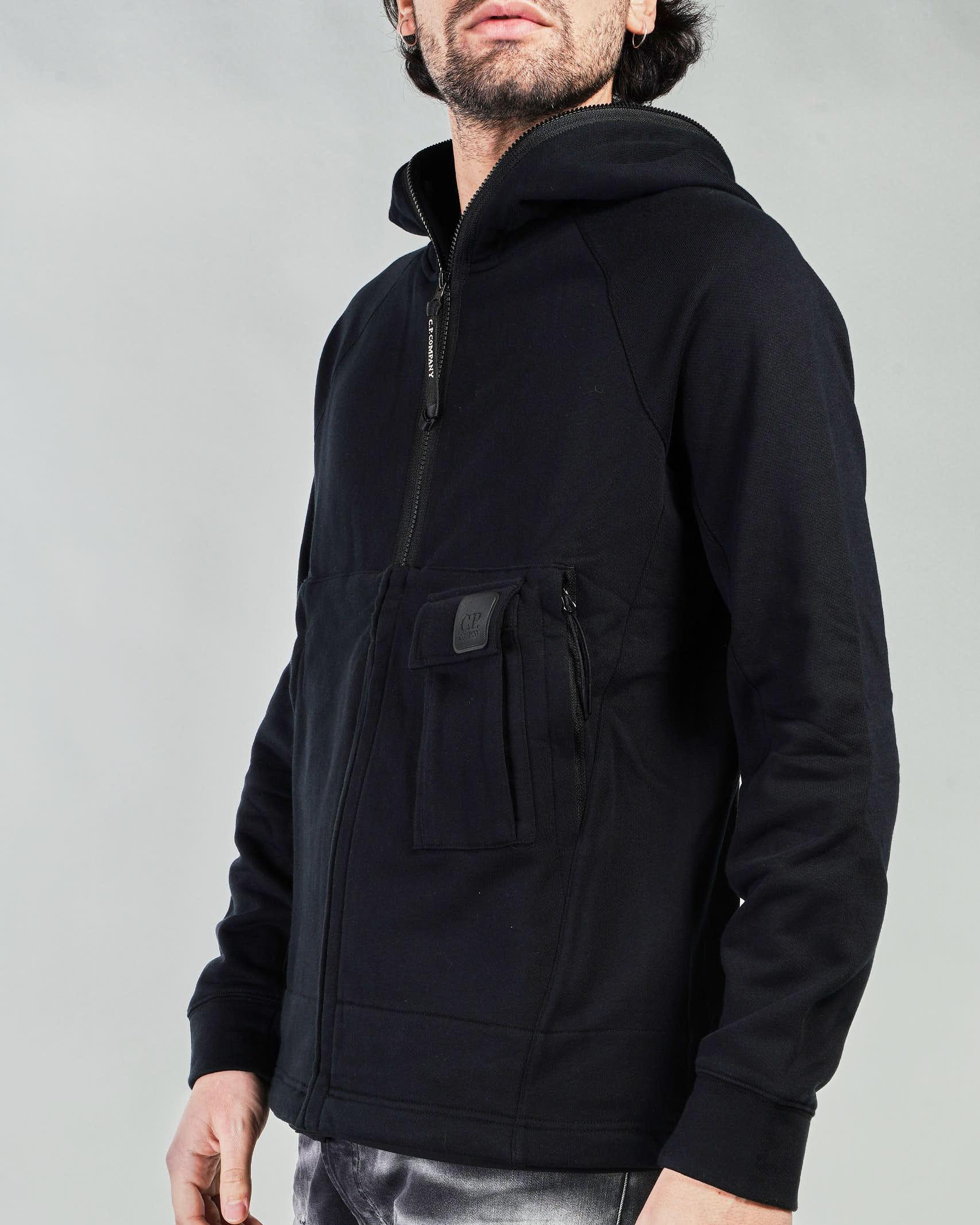 Felpa Metropolis Series Diagonal Raised Fleece Hoodie C.P. Company C.P. COMPANY   Felpa   10CMSS049A005086W999