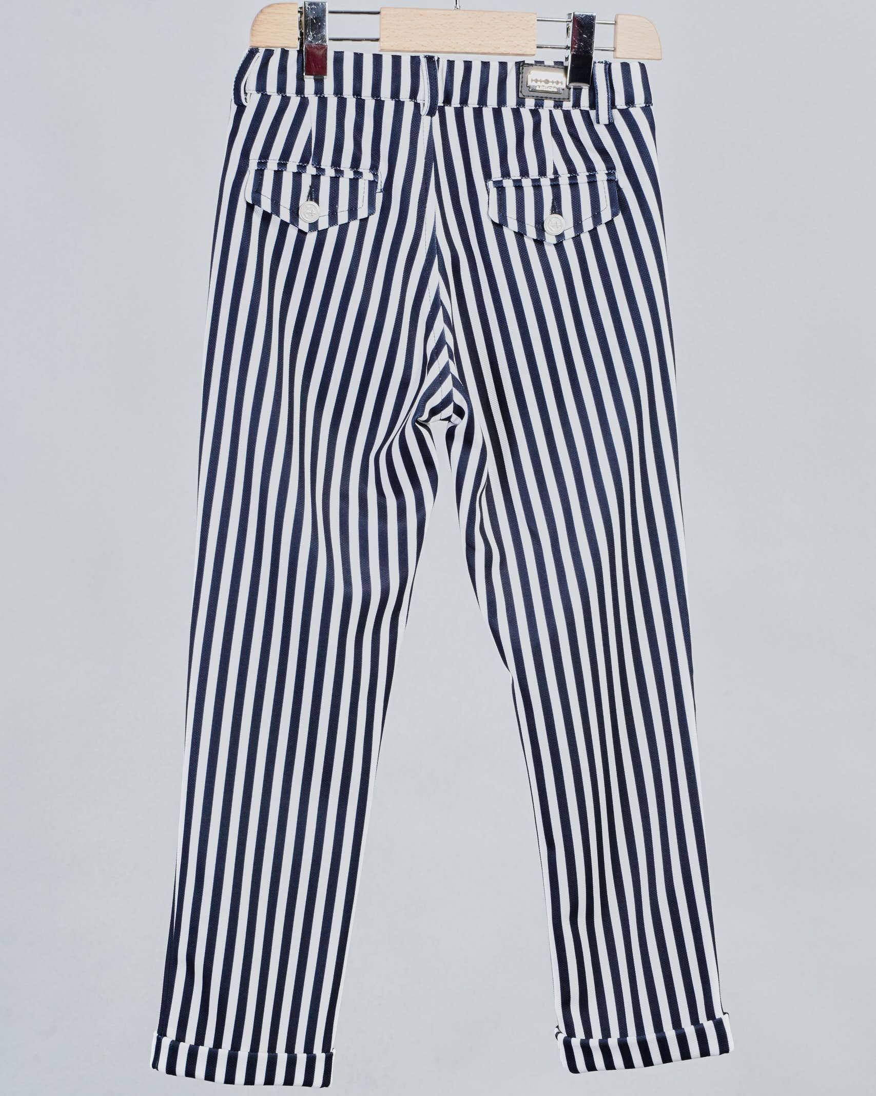 Pantalone fantasia righe Daniele Alessandrini DANIELE ALESSANDRINI   Pantalone   1235P0569BB