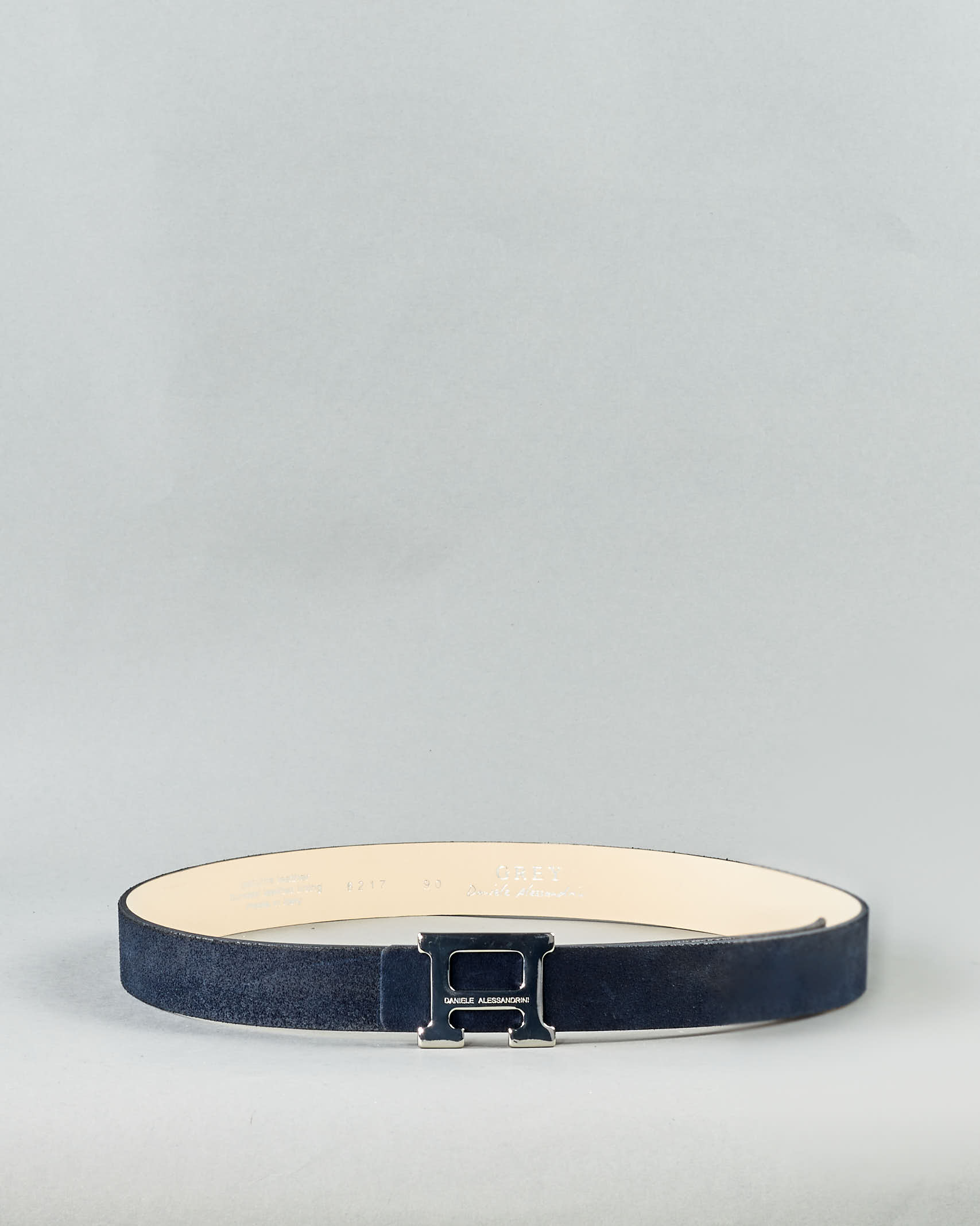 Cintura con logo in pelle scamosciata Daniele Alessandrini DANIELE ALESSANDRINI | Cintura | NL6217A423