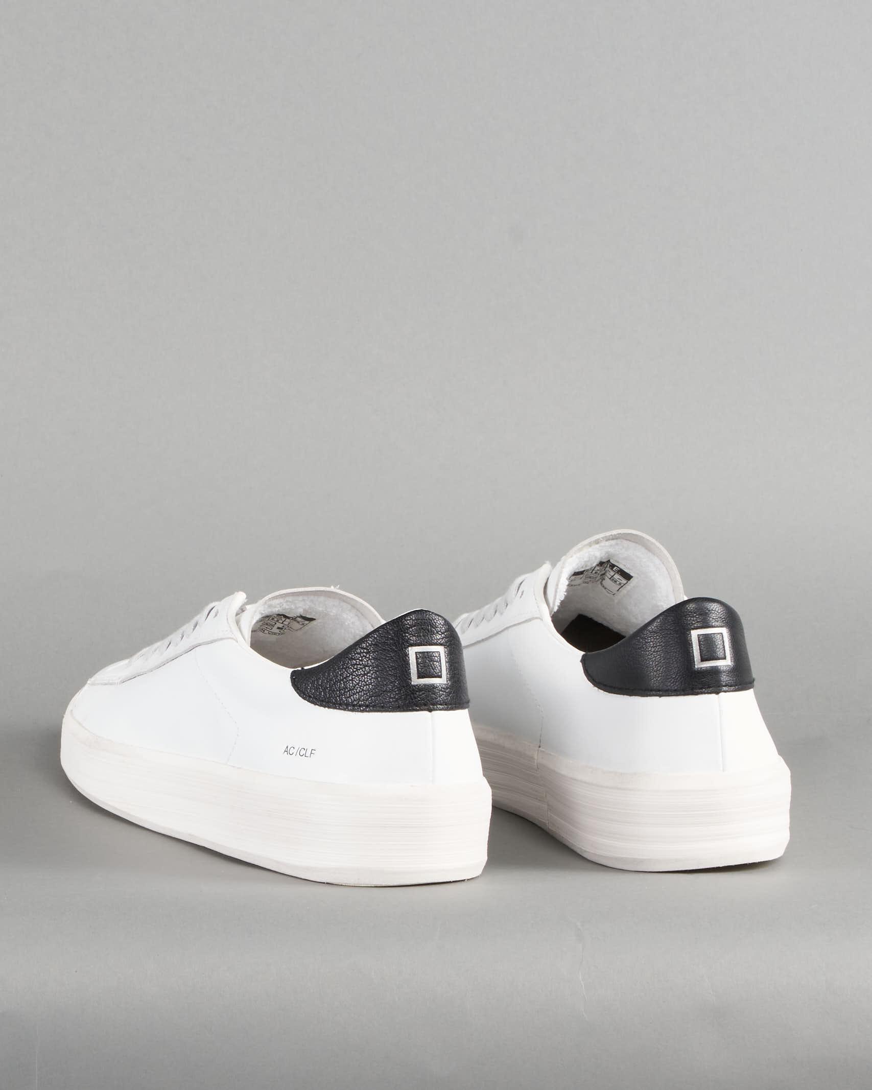 Sneaker Ace Calf White Black DATE DATE | Sneakers | M341ACCAWBBIANCO