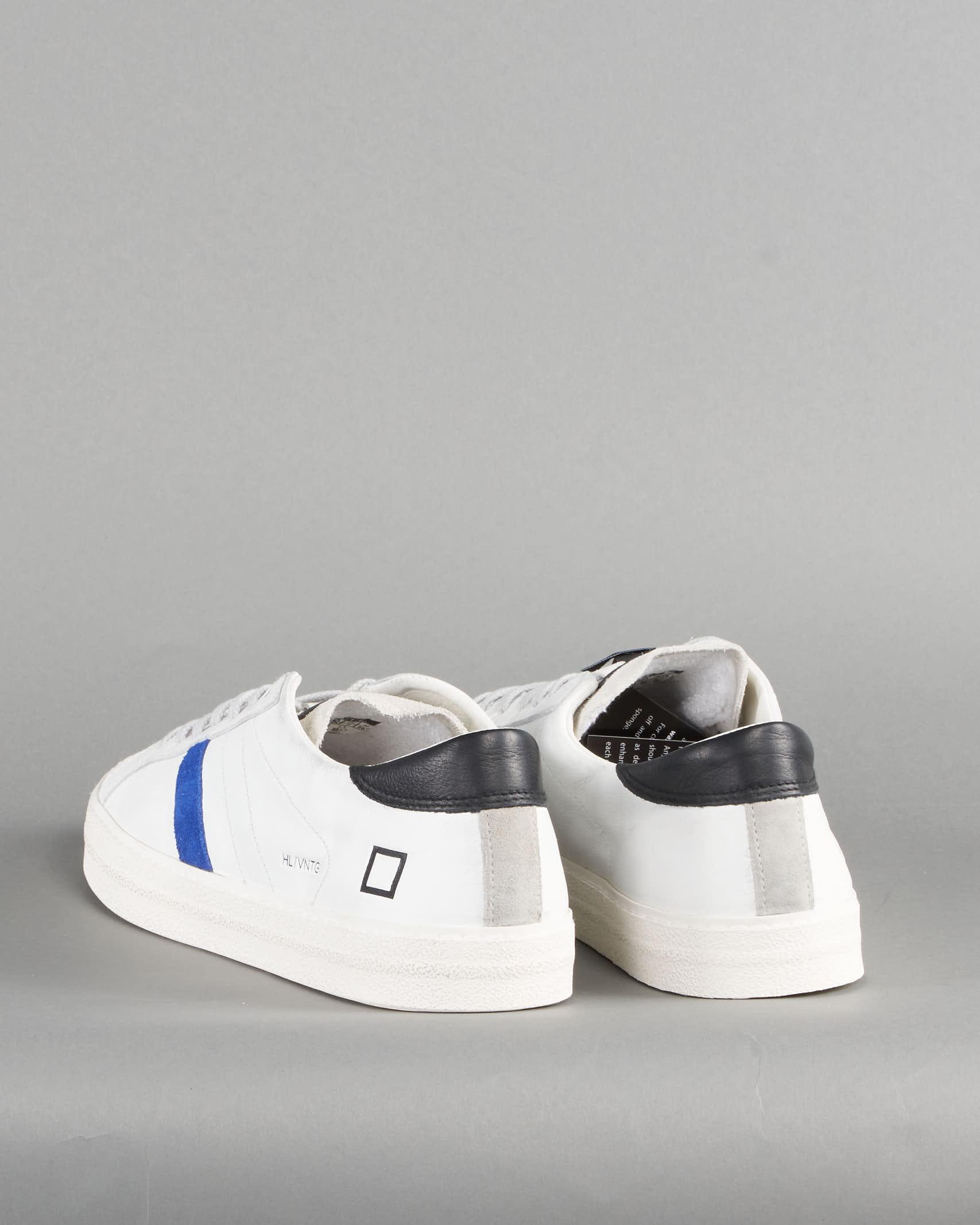 Sneaker Hill Low Vintage Calf White Bluette DATE DATE   Sneakers   M341HLVCWEBIANCO