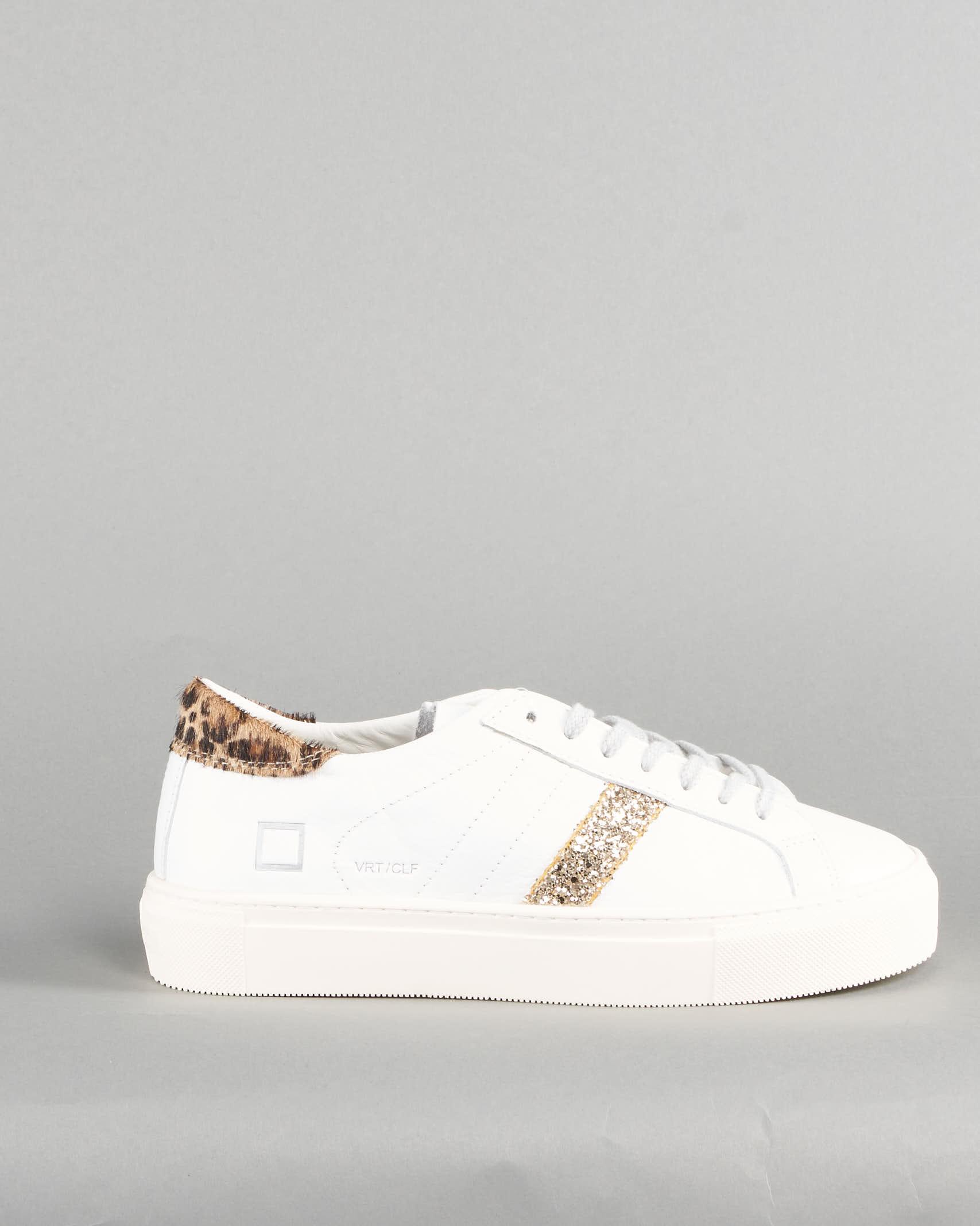 Sneaker Vertigo Calf White Leopard DATE DATE | Sneakers | W341VECAWDBIANCO
