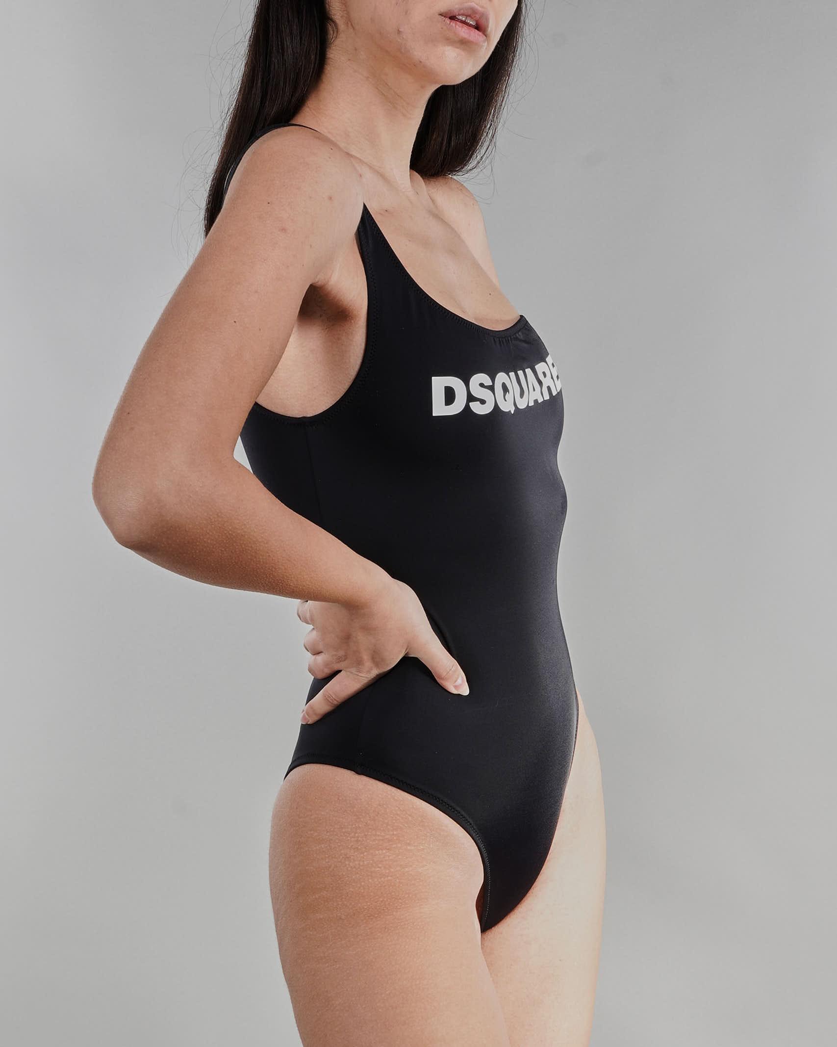 Costume intero monospalla con stampa logo Dsquared DSQUARED | Costume | D6BU5285010