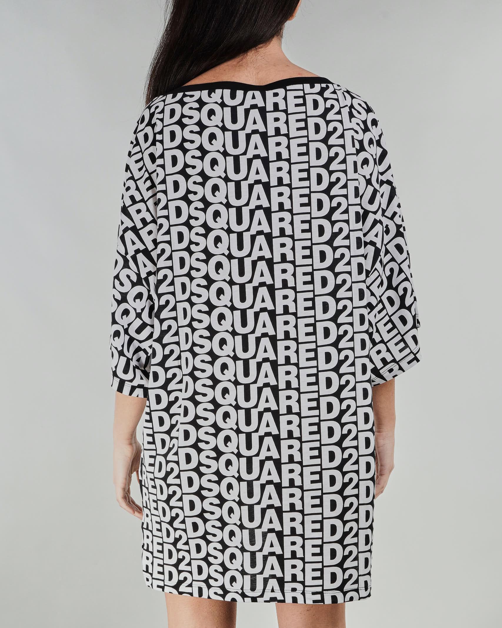 Maxi maglia con logo all over Dsquared DSQUARED | T-shirt | D6M32301018