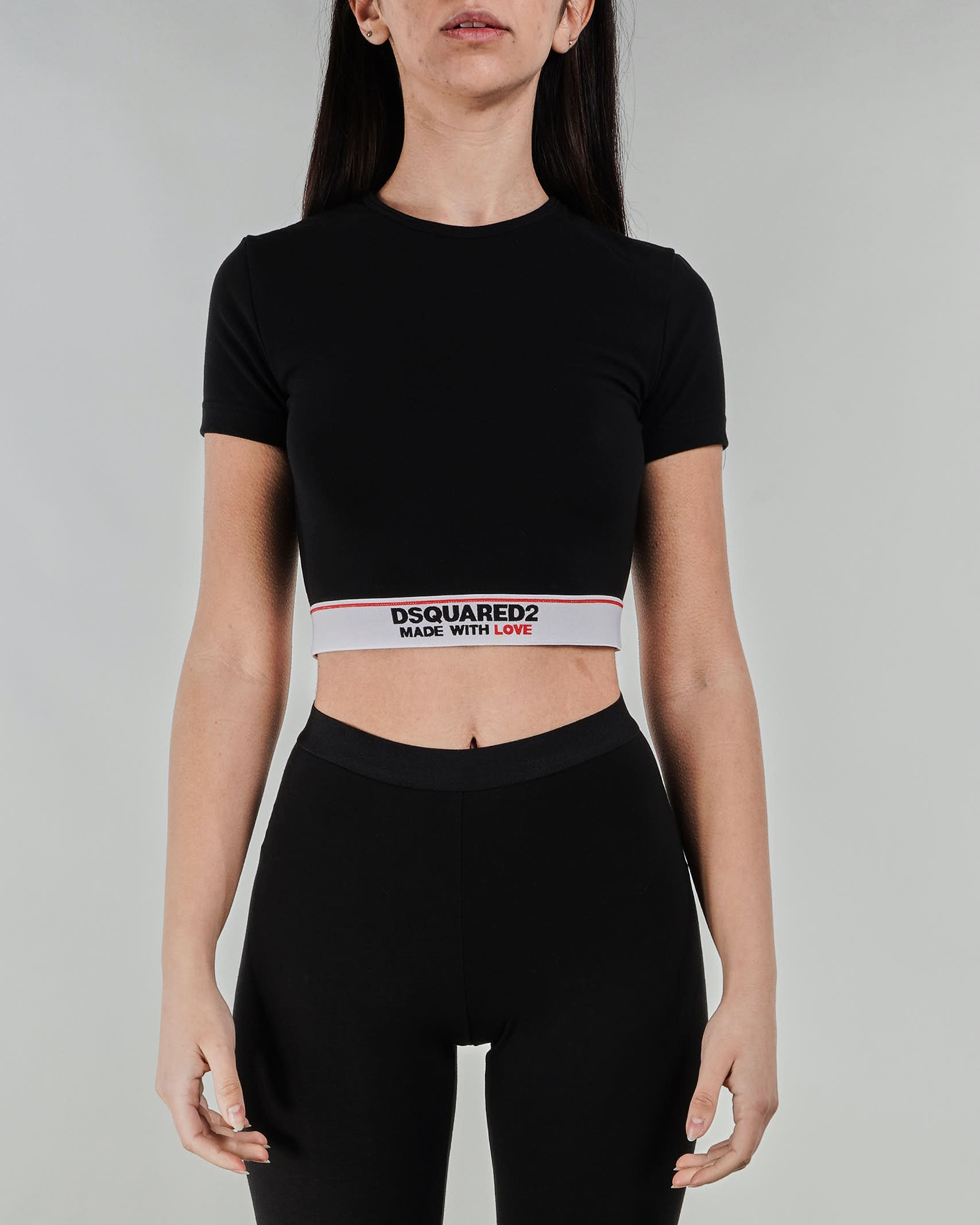 Top Cropped Made with Love Dsquared DSQUARED | Top | D8M26347010