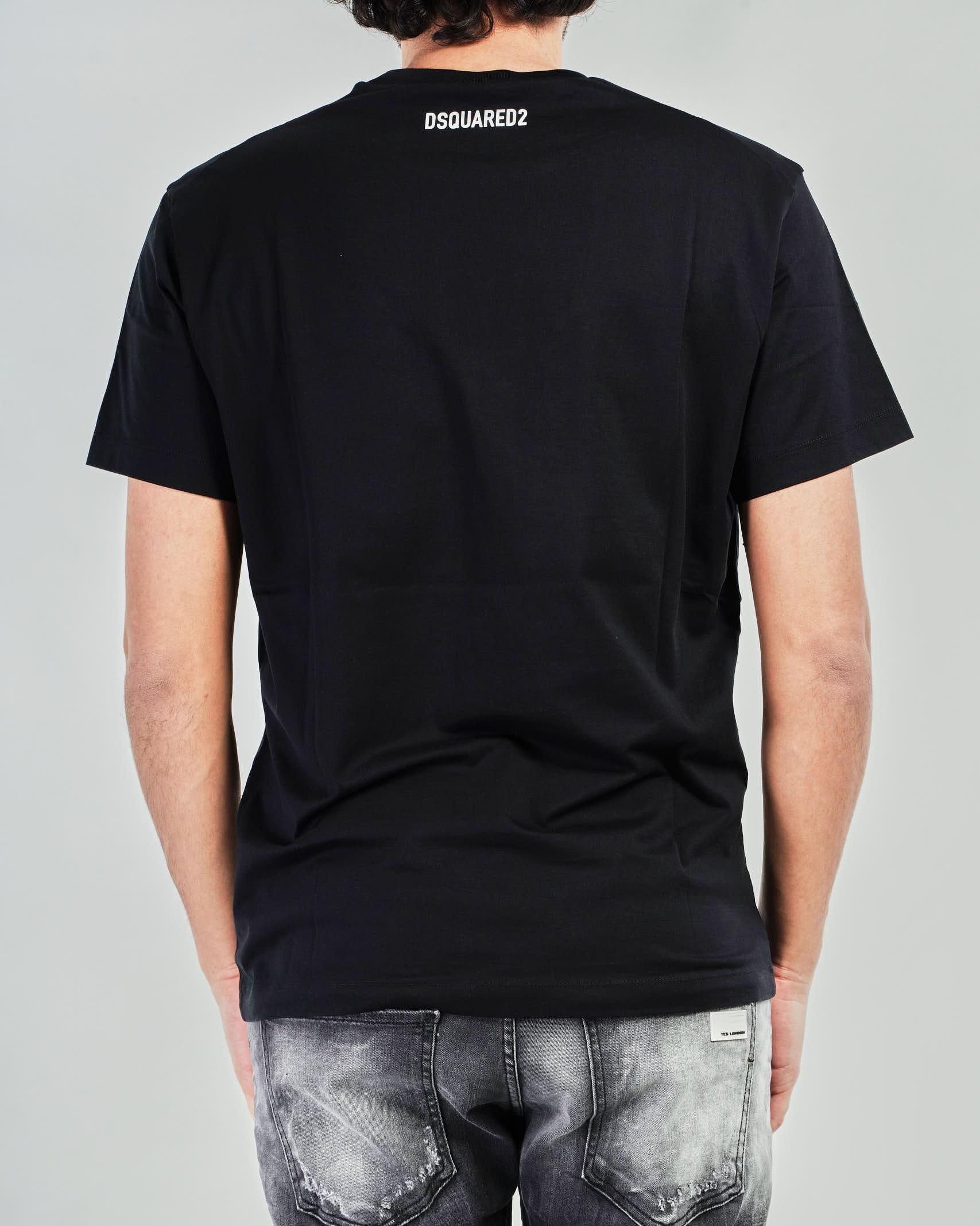 T-shirt Big Leaf Dsquared DSQUARED | T-shirt | S74GD0786NERO